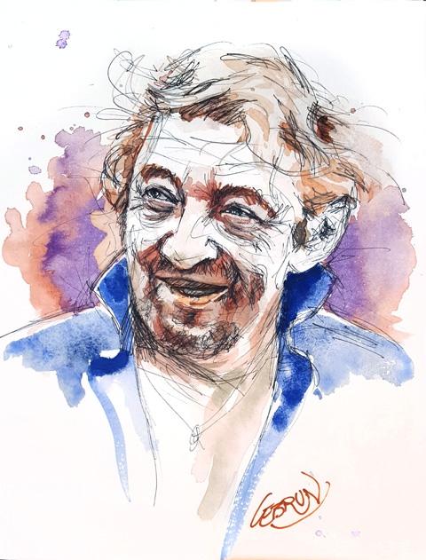 Serge Gainsbourg by Lebrun